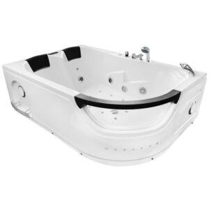 MO-1665 LEWA TURBO Wanna łazienkowa SPA z hydromasażem 180X120X60cm