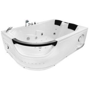 MO-1665 PRAWA TURBO Wanna łazienkowa SPA z hydromasażem 180X120X60cm