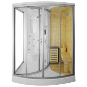 MO-1706 TRIO, sauna sucha, parowa i kabina prysznicowa 165X105X215cm
