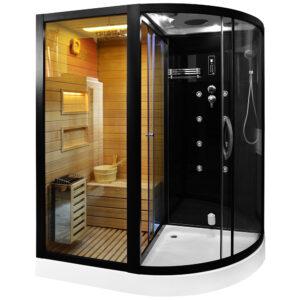 MO-1751B LEWA TRIO, sauna sucha, parowa i kabina prysznicowa 180X110X223cm