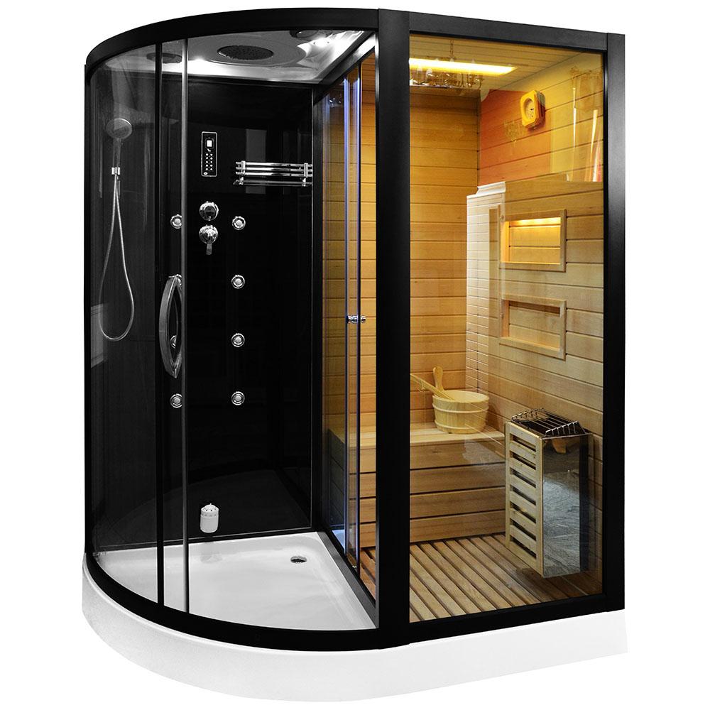 M-SPA - Pravá suchá sauna, parná miestnosť a sprchovací kút TRIO 180 x 110 x 223 cm