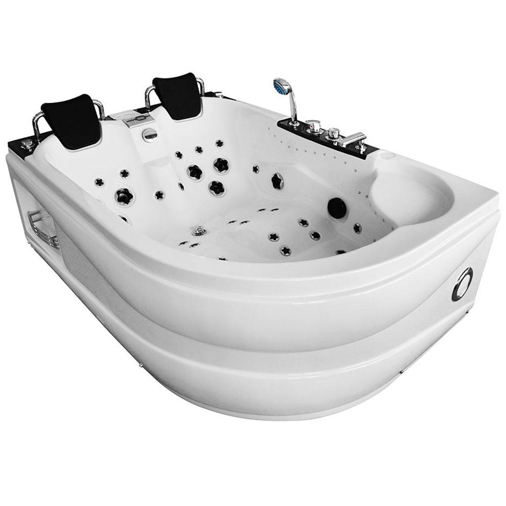 M-SPA - Ľavá kúpeľňová vaňa s hydromasážou 180 x 120 x 61 cm