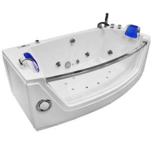 MO-0055 NIEBIESKI Wanna łazienkowa SPA z hydromasażem 175X89X60cm