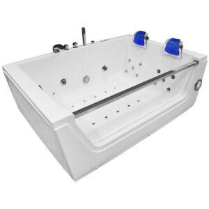 MO-0056 NIEBIESKI Wanna łazienkowa SPA z hydromasażem 176X121X61cm