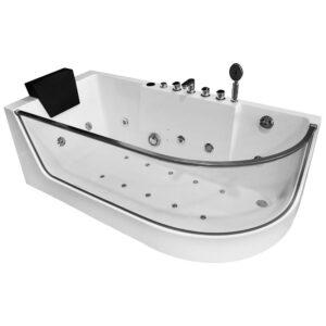 MO-1242 LEWA Wanna łazienkowa SPA z hydromasażem 170X80X59cm