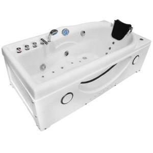 MO-1634GW BIAŁA Wanna łazienkowa SPA z hydromasażem 168X87X60cm