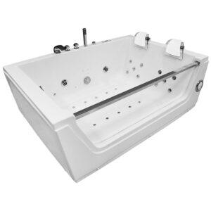 MO-0056 BIAŁY Wanna łazienkowa SPA z hydromasażem 176X121X61cm