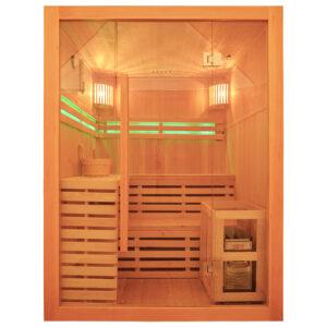 MO-EA3 Sauna sucha z piecem 150X150X200CM