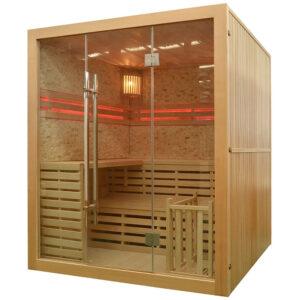 MO-EA4K KAMIEŃ Sauna sucha z piecem 180X160X200CM