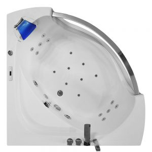 MO-0057 NIEBIESKI Wanna łazienkowa SPA z hydromasażem 135X135X63cm