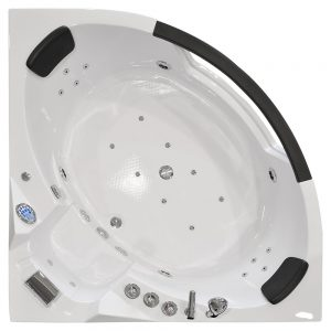 MO-10632W BIAŁA Wanna łazienkowa SPA z hydromasażem 157X157X68cm