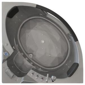 MO-10632G SREBRNA Wanna łazienkowa SPA z hydromasażem 157X157X68cm