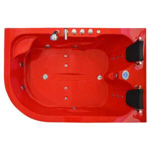 MO-1631R PRAWA CZERWONA Wanna łazienkowa SPA z hydromasażem 180X120X66cm