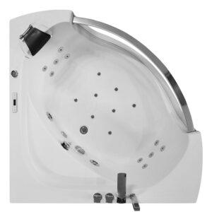 MO-0057 CZARNY Wanna łazienkowa SPA z hydromasażem 135X135X63cm