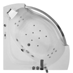 MO-0057 BIAŁY Wanna łazienkowa SPA z hydromasażem 135X135X63cm