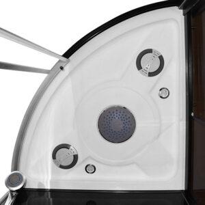 MO-1751B PRAWA TRIO, sauna sucha, parowa i kabina prysznicowa 180X110X223cm