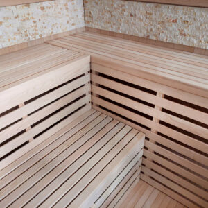 MO-EA5CK KAMIEŃ Sauna sucha z piecem 200 x 200 x 200 cm