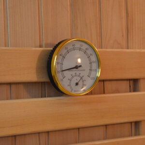 MO-EA4B CZARNA Sauna sucha z piecem 180X160X200CM