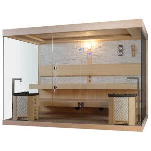 MUE-1240 Sauna sucha z piecem 220X200X210CM
