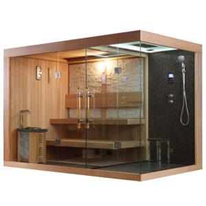 MUE-1388 Sauna sucha z piecem 300X180X210CM