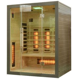 MO-EA3RG SREBRNA Sauna na podczerwień 150X120X190CM
