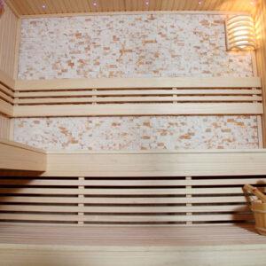 MUE-1102 Sauna sucha z piecem 220X200X210CM