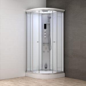 MUE-AF8080 BIAŁA Kabina prysznicowa z hydromasażem i sauną parową 80X80X217CM