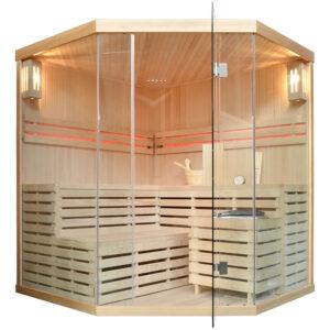 MO-EA4C Sauna sucha z piecem 180X180X200CM