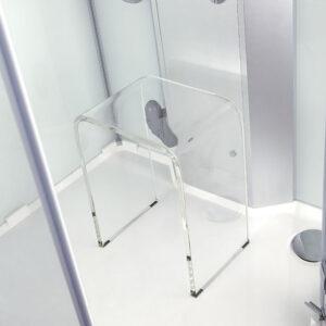 Krzesło do kabiny prysznicowej AKRYLOWE