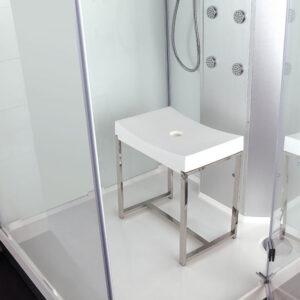 Krzesło do kabiny prysznicowej BIAŁE