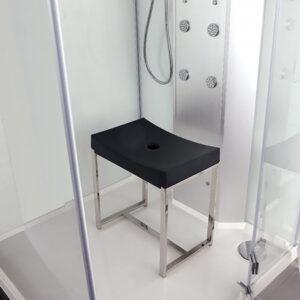 Krzesło do kabiny prysznicowej CZARNE