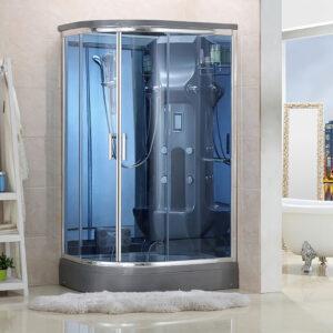 MO-02188G LEWA SREBRNA Kabina prysznicowa z hydromasażem 120X85X220CM