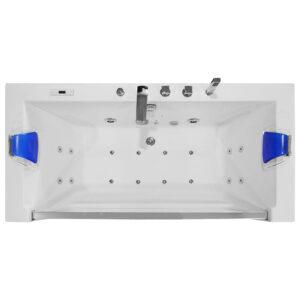 MO-0054 NIEBIESKI Wanna łazienkowa SPA z hydromasażem 175X85X60cm