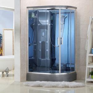 MO-02188G PRAWA SREBRNA Kabina prysznicowa z hydromasażem 120X85X220CM