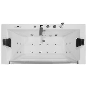 MO-0054 CZARNY Wanna łazienkowa SPA z hydromasażem 175X85X60cm