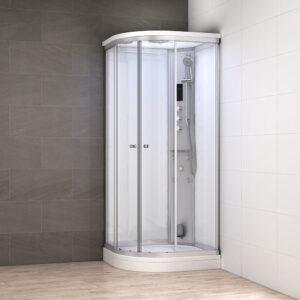 MUE-AC1290R BIAŁA Kabina prysznicowa z hydromasażem i sauną parową 120X90X217CM