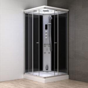 MUE-AS1010 CZARNA Kabina prysznicowa z hydromasażem i sauną parową 100X100X217CM