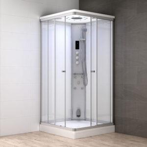 MUE-AS1010 BIAŁA Kabina prysznicowa z hydromasażem i sauną parową 100X100X217CM