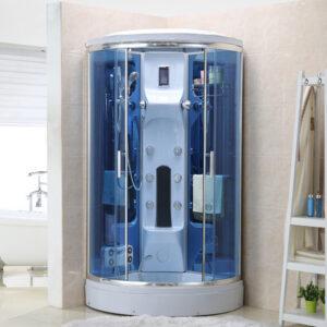 MO-0210W BIAŁA Kabina prysznicowa z hydromasażem 100X100X220CM