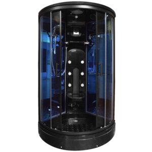 MO-0210B CZARNA Kabina prysznicowa z hydromasażem 100X100X220CM