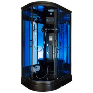 MO-02188B LEWA CZARNA Kabina prysznicowa z hydromasażem 120X85X220CM