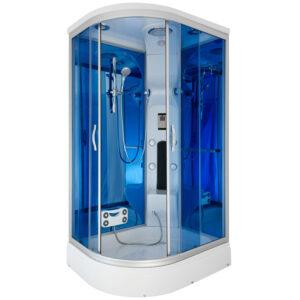 MO-02188W LEWA BIAŁA Kabina prysznicowa z hydromasażem 120X85X220CM