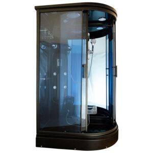 MO-02188B PRAWA CZARNA Kabina prysznicowa z hydromasażem 120X85X220CM