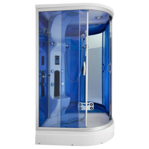 MO-02188W PRAWA BIAŁA Kabina prysznicowa z hydromasażem 120X85X220CM
