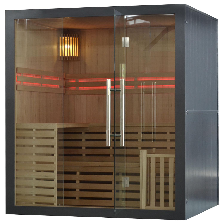 M-SPA - Sivá suchá sauna s rúrou 180 x 160 x 200 cm