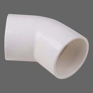 Kolanko PVC 45° stopni fi 33,5 mm rozmiar amerykański